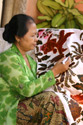 The batik women in front of their studio