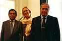 Ambassador Dr. Abdul Irsan and Cultural Attaché Dr. T.R. Andi Lolo at the Embassy in The Hague, 2000