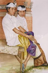Boys in ceremonial dress