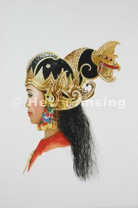 Female dancer of Yogya