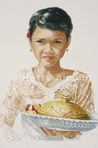 Girl with offering