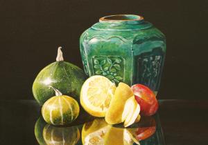 nr 21 Gemberpot met vruchten