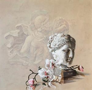nr 46 Magnoliatak met Grieks beeld